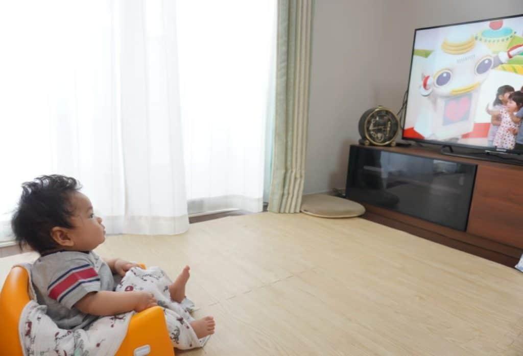 ベビーチェア カリブ テレビ