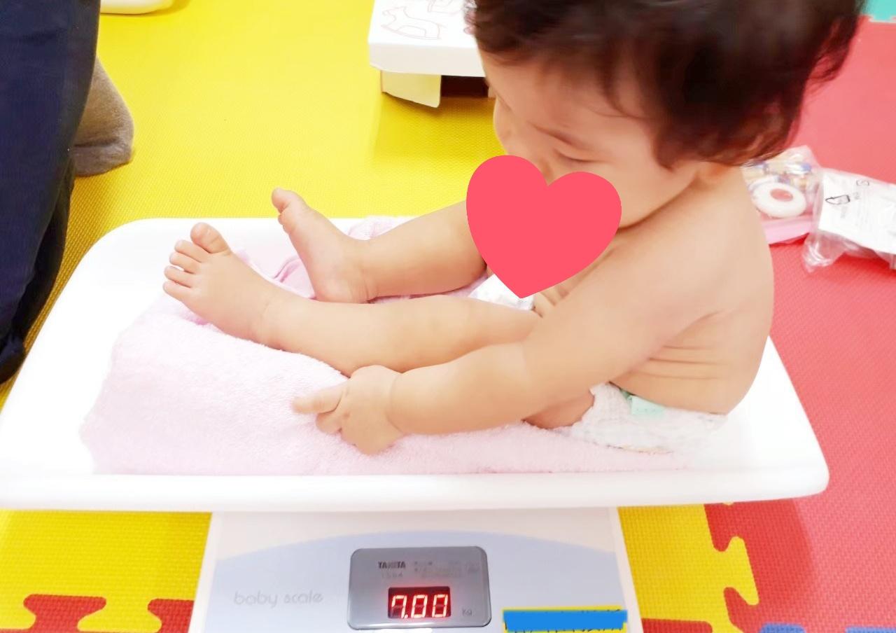 赤ちゃん 7 ヶ月 体重